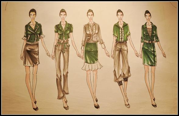 教学领域:时装设计,时装画技法等.
