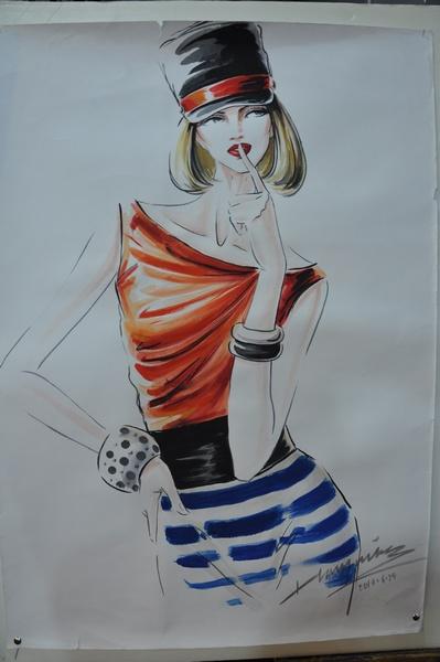 郝永强时装画展作品7; 水粉画技法时装设计; 服装画